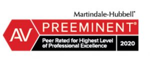 Martindale-Hubbell AV Preeminent Peer Rated 2020